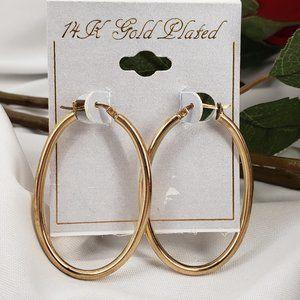 Elegant 14K Hoop Earrings NWT